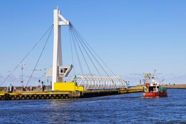 2014-09-02 – 12:45:55; Ustka; n/z Most zwodzony na kanale portowym w Ustce